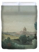 Saint Peter's Seen From The Campagna Duvet Cover