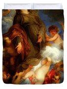 Saint Rosalie Interceding For The Plague Stricken Of Palermo     Duvet Cover