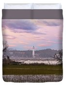Saint Simon Island Lighthouse Duvet Cover