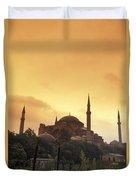 Saint Sophia Hagia Sophia At Sunset Duvet Cover