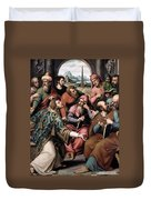 Saint Stephen In The Synagogue Duvet Cover