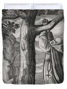 Saint Victorinus Does Penance Duvet Cover