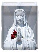 Saint Virgin Mary Statue #1 Duvet Cover