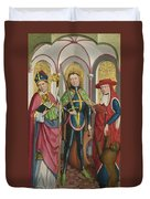 Saints Ambrose Exuperius And Jerome Duvet Cover