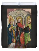 Saints Gregory Maurice And Augustine Duvet Cover