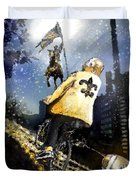 Saints Summit In New Orleans Duvet Cover