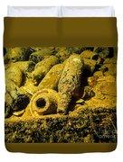 Sake Bottles In A Shipwreck In Truk Duvet Cover