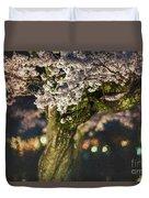 Sakura At Night Duvet Cover