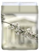 Sakura At The Basin Duvet Cover
