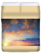Salamonie Sunset Abstract Duvet Cover