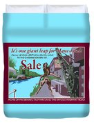 Sale Poster By Eric Jackson, Statement Artwork Duvet Cover