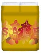 Sale Text On Fall Colors Oak Leaves Duvet Cover