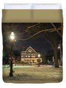 Salem Commons Winter Snow At Christmas Salem Ma Duvet Cover
