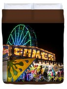 Salem Ma Halloween Carnival Games Booth Duvet Cover