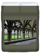 Salisbury Cathedral Cloisters Duvet Cover