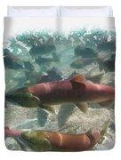 Salmon Migration Duvet Cover