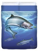Salmon Painting Duvet Cover