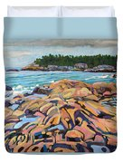Salmon Rocks Duvet Cover