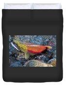Salmon Spawning Duvet Cover