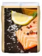 Salmon Steak And Spices Duvet Cover