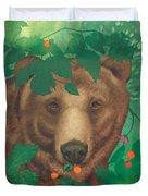 Salmonberry Bear Duvet Cover