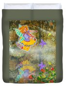 Salmonberry Fairy Merri Goldentree Duvet Cover