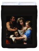 Salome With The Head Of Saint John The Baptist Duvet Cover by Onorio Marinari