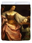 Salome With The Head Of St John Baptist 1640 Duvet Cover