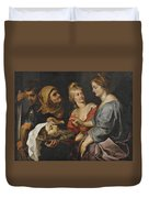 Salome With The Head Of St. John The Baptist Duvet Cover