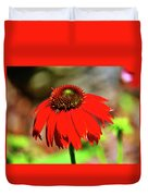 Salsa Red Coneflower Duvet Cover