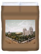 Salt Lake City Duvet Cover