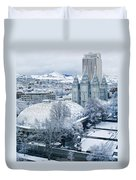 Salt Lake City Tabernacle And Temple Duvet Cover