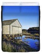 Salt Pond Boathouse  Duvet Cover