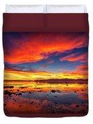 Salton Sea Sunset Duvet Cover