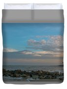 Salty Air Over Breach Inlet Duvet Cover