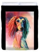 Saluki Sunset Duvet Cover