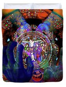 Salvation Within Solar Light Duvet Cover by Joseph Mosley