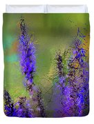 Salvia May Night Art -purple Modern Abstract Art Duvet Cover