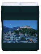 Salzburg City With Hohensalzburg Fortress, Salzburger Land, Austria Duvet Cover