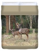 Sambar Mother And Child Duvet Cover