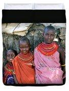 Samburu Sisters Duvet Cover