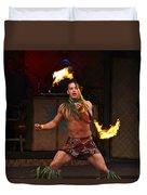 Samoan Fire Dance Duvet Cover