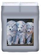 Samoyed Pups Duvet Cover