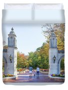 Sample Gates At University Of Indiana Duvet Cover