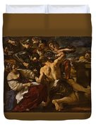 Samson Captured By The Philistines Duvet Cover