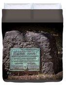 12- Samuel Adams Tombstone In Granary Burying Ground Eckfoto Boston Freedom Trail Duvet Cover