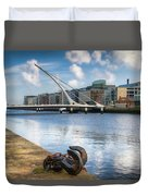 Samuel Beckett Bridge, Dublin, Ireland Duvet Cover