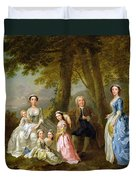 Samuel Richardson Seated With His Family Duvet Cover