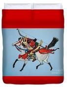 Samurai Rider Duvet Cover