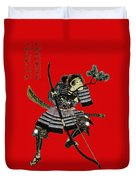 Samurai With Bow Duvet Cover